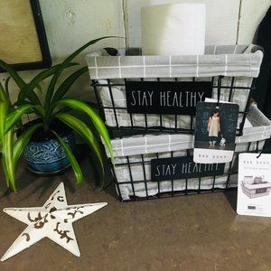 NWT Rae Dunn STAY HEALTHY Large & Small Baskets